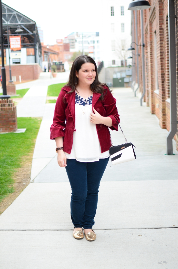 Navy, burgundy, and Miche interchangeable bag! (1)