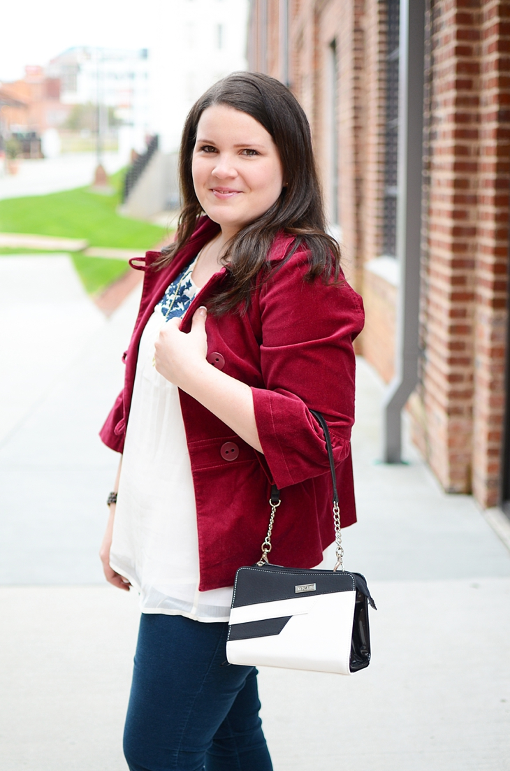 Navy, burgundy, and Miche interchangeable bag! (2)