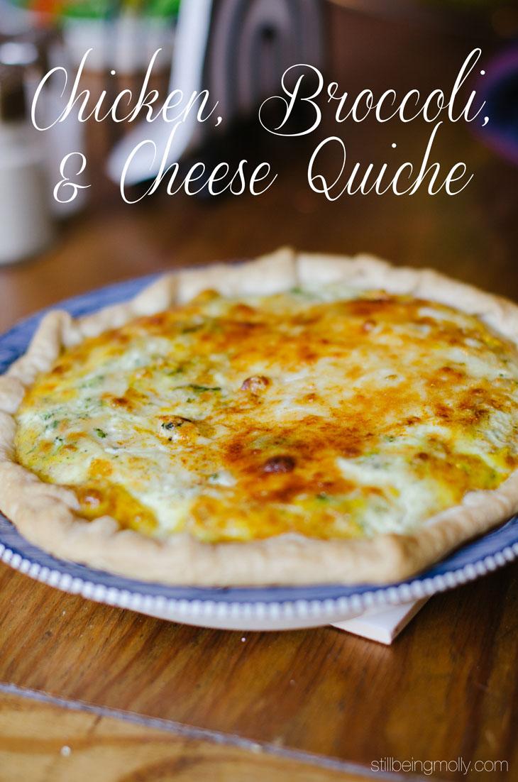 RECIPE | Chicken, Broccoli & Cheese Quiche (4)