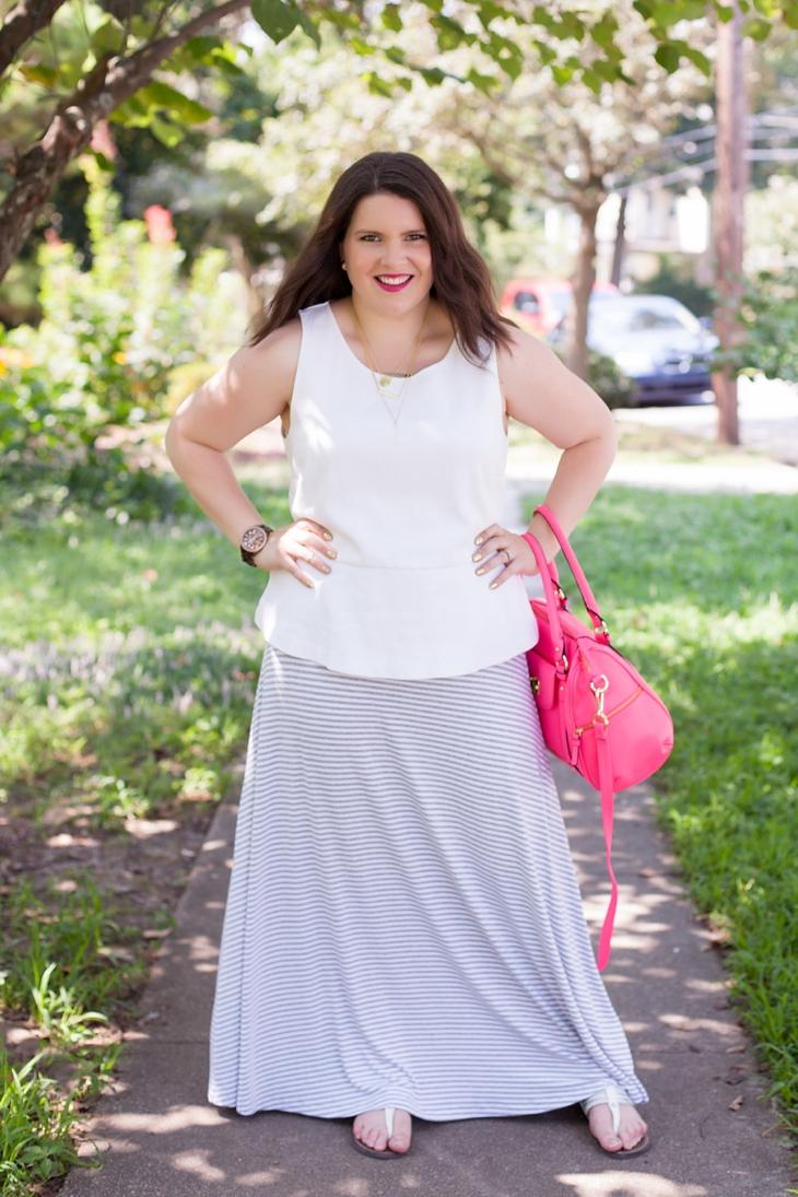 How to Wear Gap Striped Maxi Dress Three Different Ways (3)
