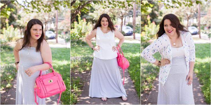 How to Wear Gap Striped Maxi Dress Three Different Ways (9)