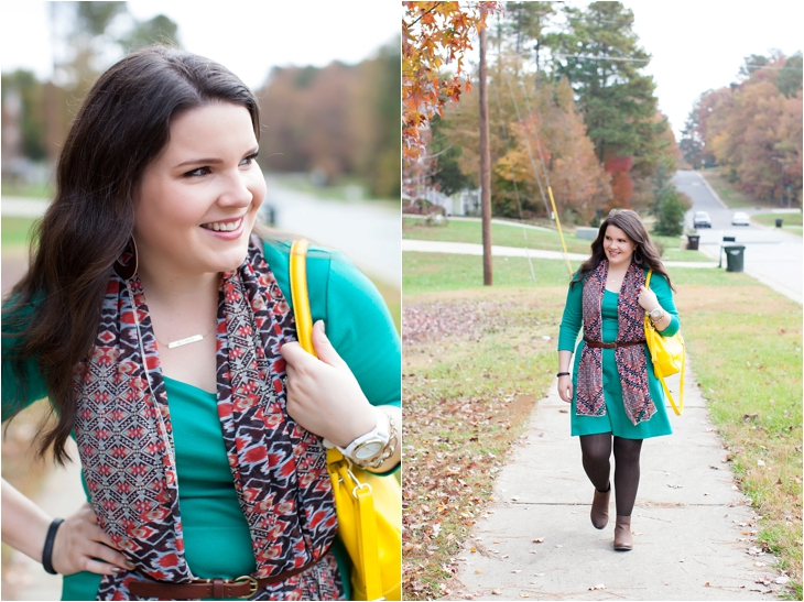How to wear a belted scarf (4)