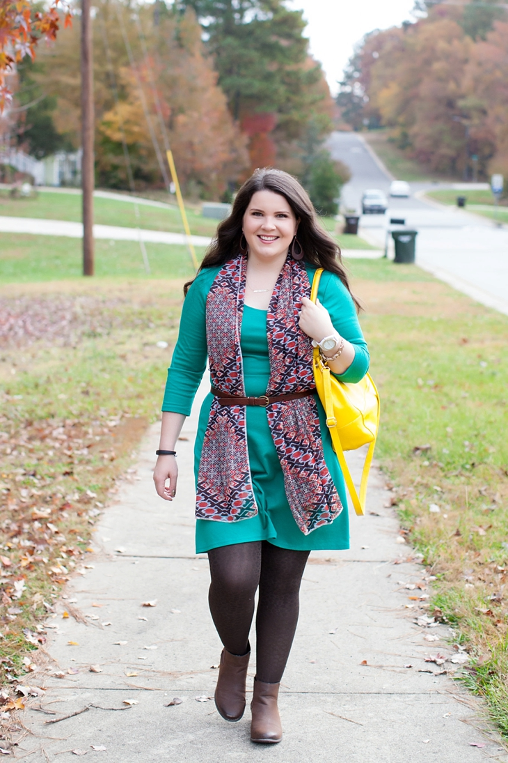 How to wear a belted scarf (6)