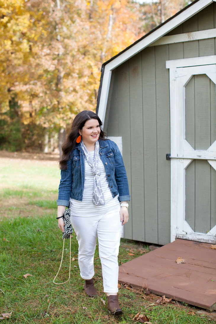 11 Ways to Wear White Jeans - still being [Molly]