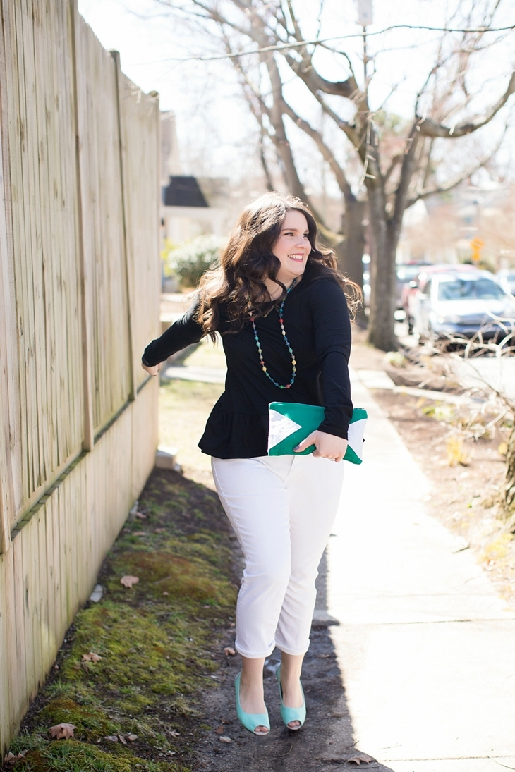 Elegantees, Mighty River Project Necklace, White boyfriend jeans, Root Collective Peep Toe - North Carolina Fashion Blogger (4)