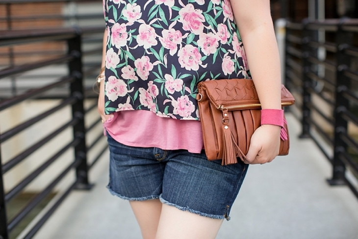 Summer style | Nickel and Suede, Floral top, Denim Shorts