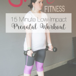 Fitness Friday: 15 Min Low-Impact Prenatal Workout + 14 Week Update