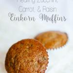 RECIPE | Healthy Zucchini, Carrot, & Raisin Einkorn Flour Muffins