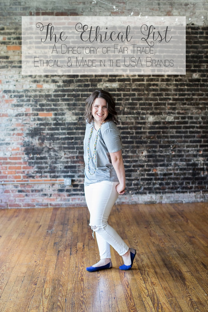 Fair Trade, Ethical Brands, Made in the USA Clothing, Fashion, & Product Directory by lifestyle blogger Still Being Molly