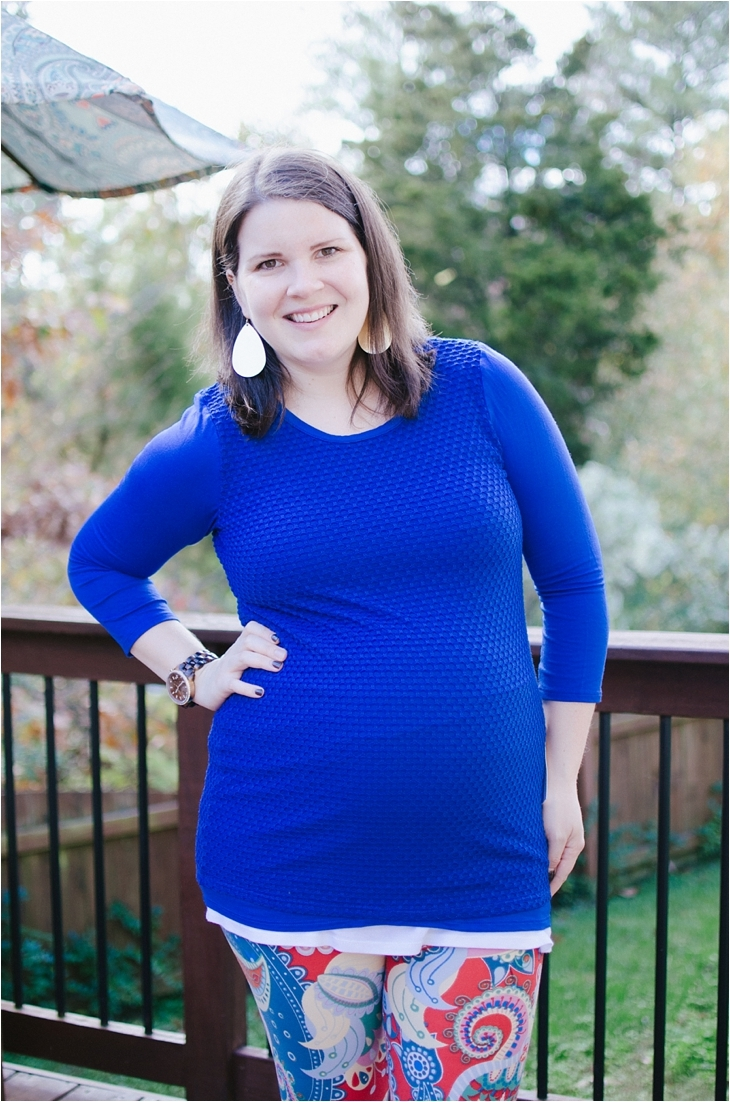 "Loveappella Maternity - ""Corley Textured Maternity Knit Top"" - Size L - $58"