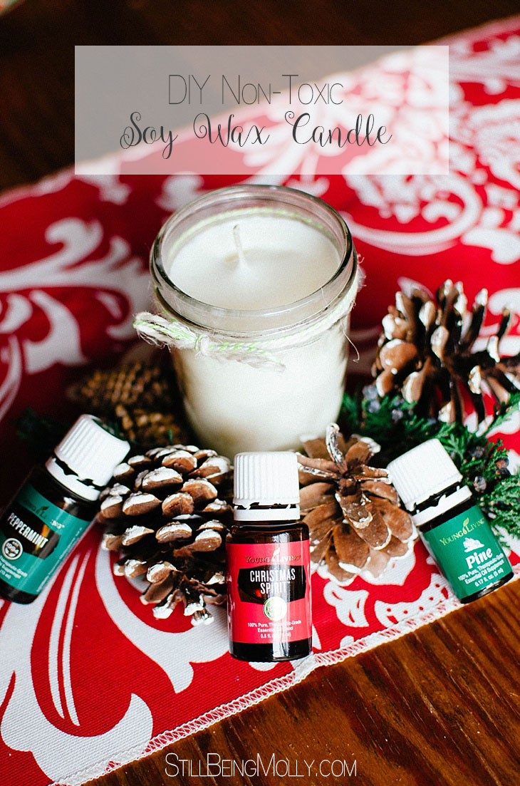 Easy DIY Non-Toxic Soy Wax Candle with Essential Oils (7)
