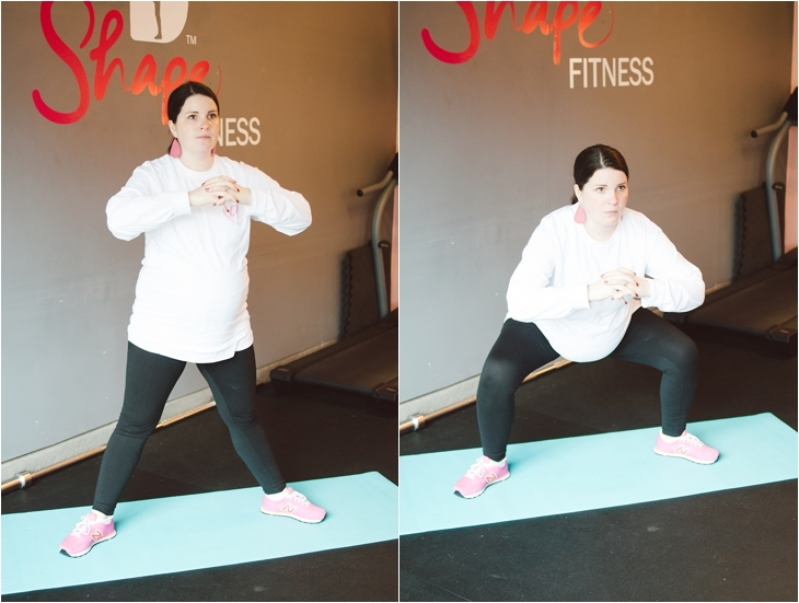 """A Prenatal Workout for the """"Nearly-Immobile"""" Pregnant Woman (or the times when you just can't move...)   Fitness Friday (6)"""