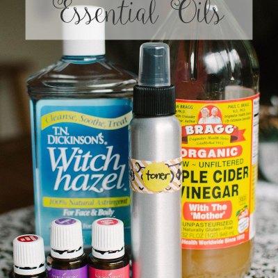 DIY Essential Oils Facial Toner