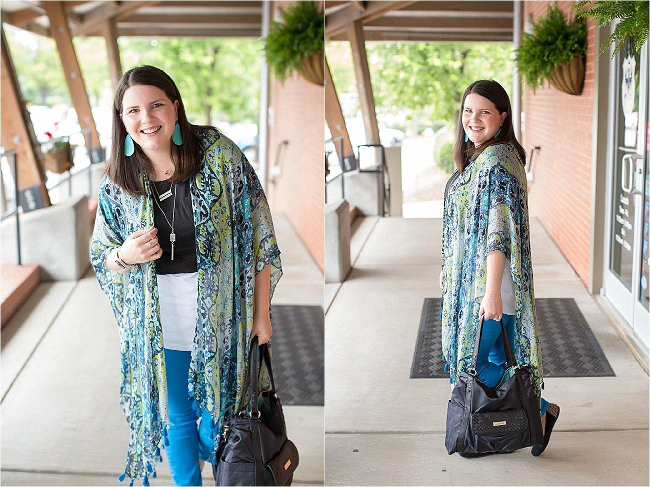 "Threads 4 Thought ruana, Elegantees ""Riley"" tee, Margaret M Stitch Fix jeans, Lily Jade diaper bag   North Carolina Fashion Blogger (10)"