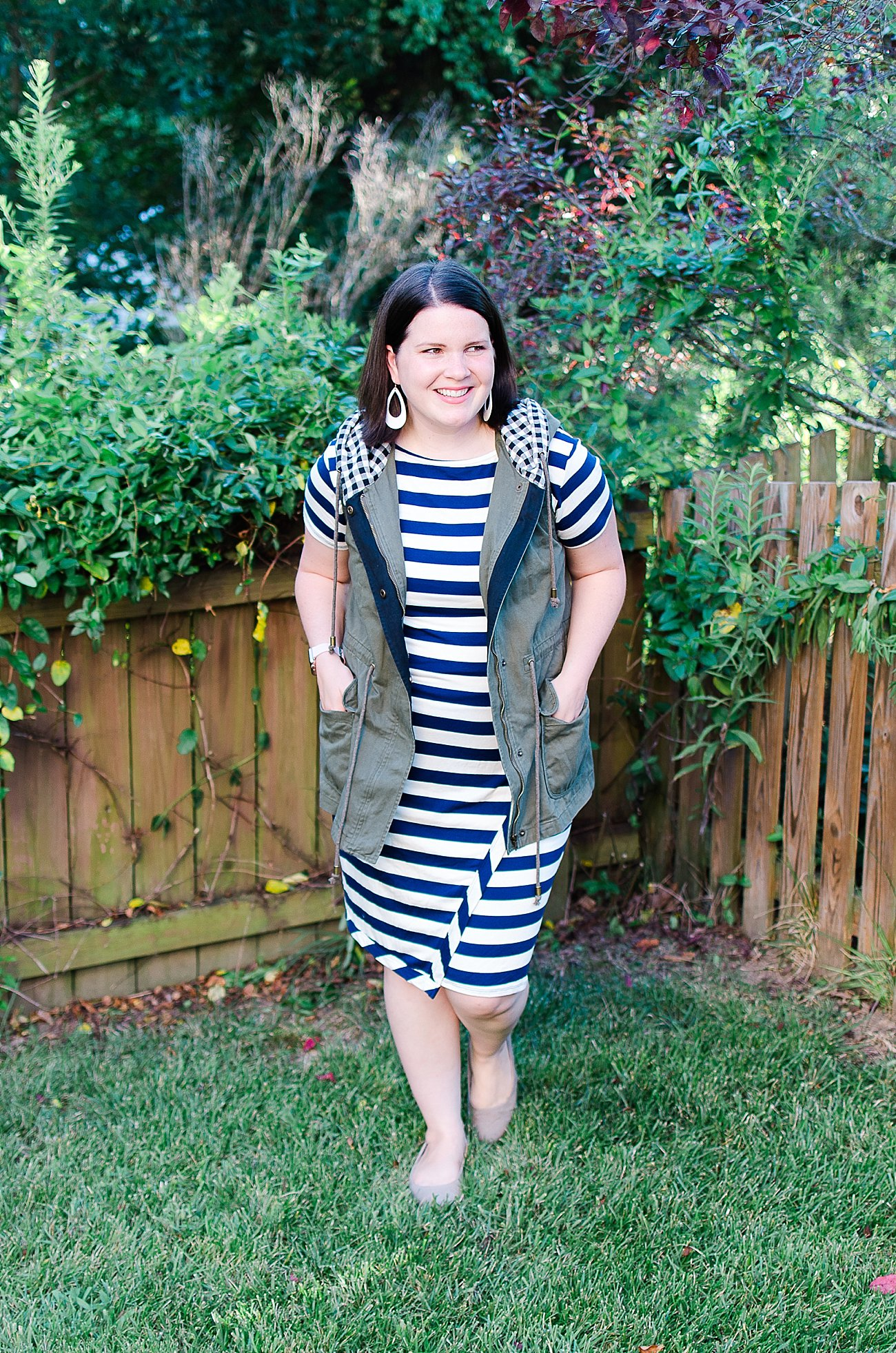 """Stitch Fix Loveappella """"Zola Knit Dress"""" - Size XL - $58 and Skies are Blue """"Keating Cargo Vest"""" - Size XL - $78"""