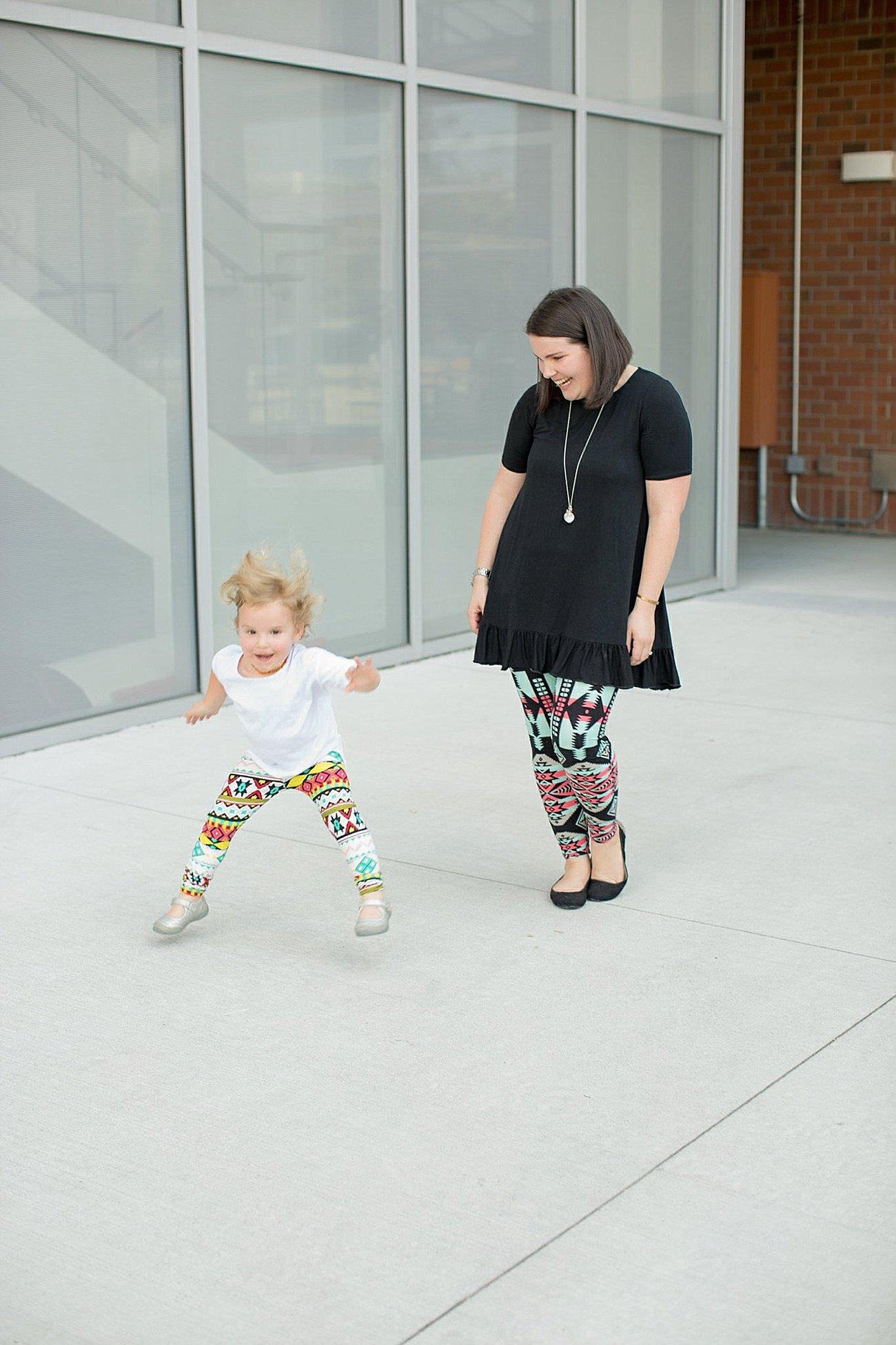 Agnes & Dora black ruffle tunic, Agnes & Dora matching mommy and me leggings (5)