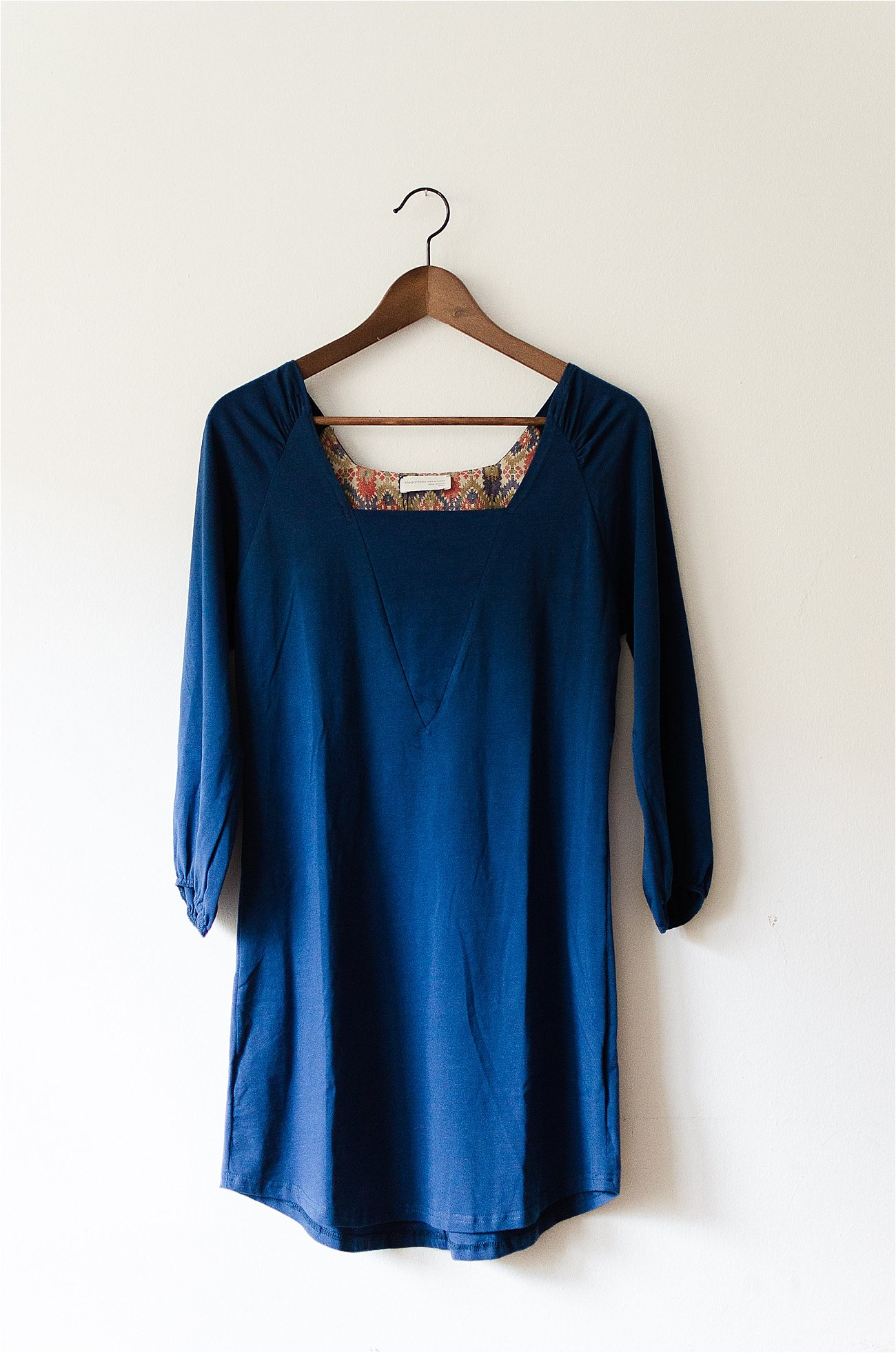"The Elegantees ""Molly"" Tunic in Estate Blue and Meteorite 