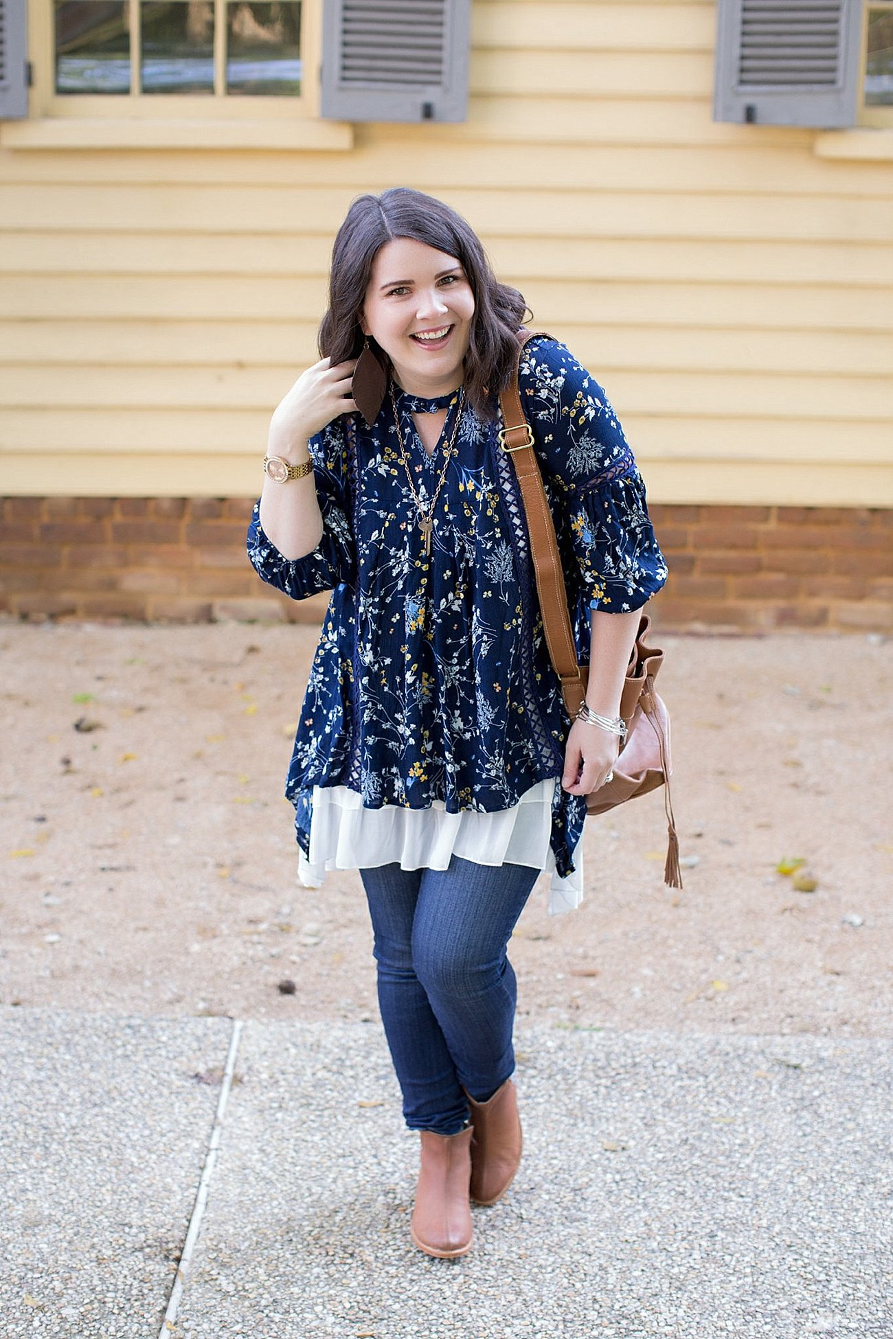 Grace & Lace peasant top and chiffon lace extender from The Flourish Market, Paige denim, Root Collective espe booties | Ethical Fashion, North Carolina Life and Style Blogger (2)