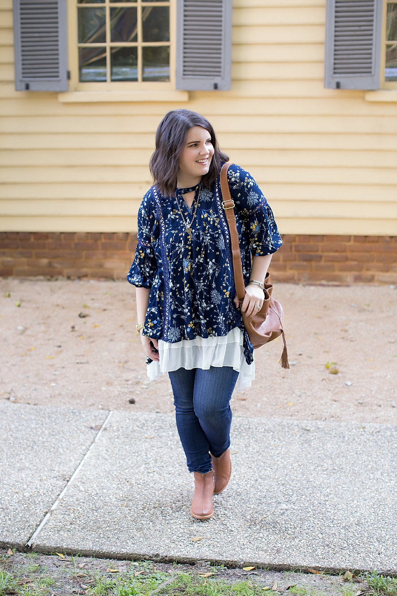 Grace & Lace peasant top and chiffon lace extender from The Flourish Market, Paige denim, Root Collective espe booties | Ethical Fashion, North Carolina Life and Style Blogger (4)