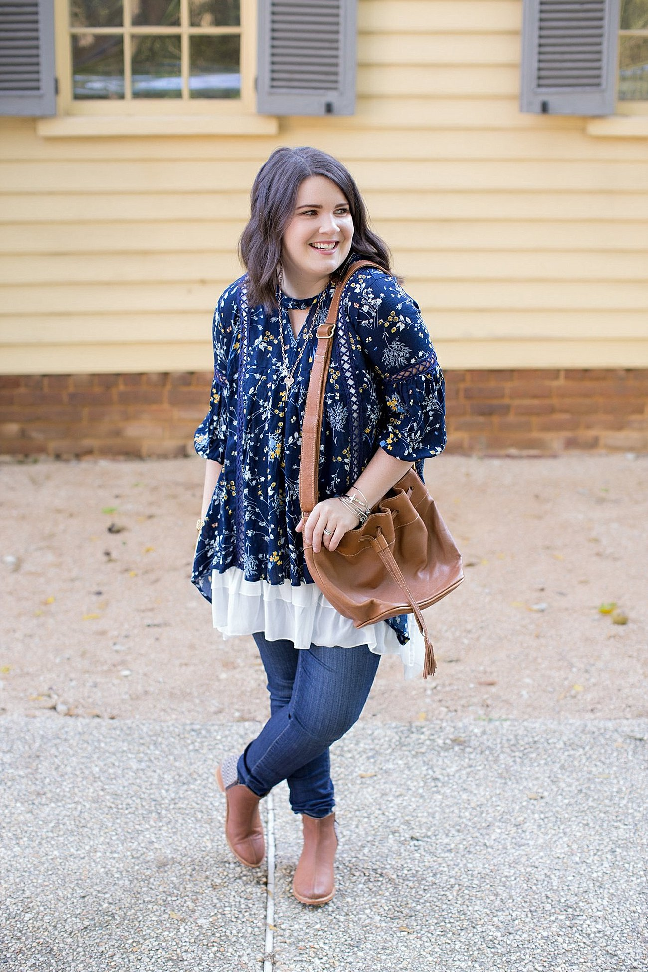 Grace & Lace peasant top and chiffon lace extender from The Flourish Market, Paige denim, Root Collective espe booties | Ethical Fashion, North Carolina Life and Style Blogger (5)