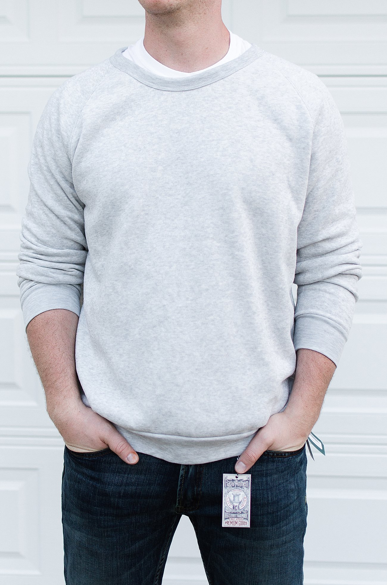 "Stitch Fix Men Review   Flag & Anthem ""Erie Jean"" and Alternative Apparel ""Champ Fleece Sweatshirt"""