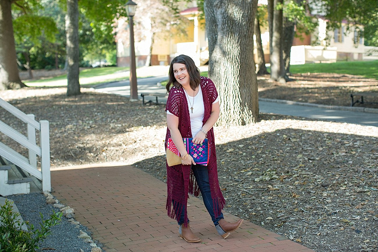 The Flourish Market Grace & Lace crochet duster, The Root Collective Espe booties (1)