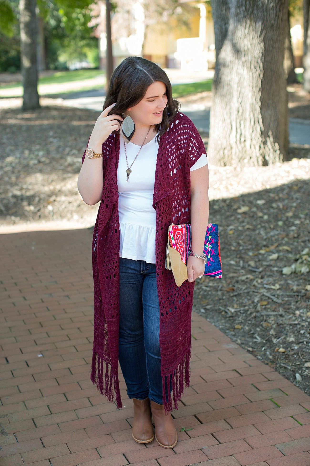 The Flourish Market Grace & Lace crochet duster, The Root Collective Espe booties (9)