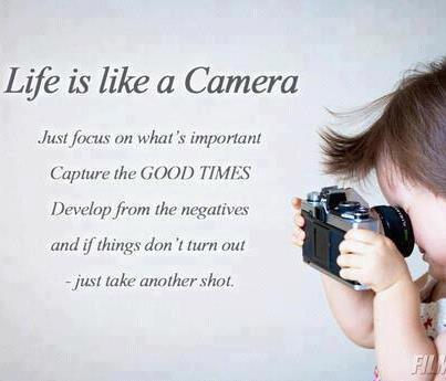 Marriage is like a camera