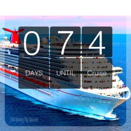 Cruise countdown Carnival Dream
