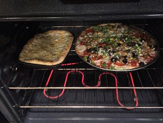 Wine & Papa Murphy's pizza