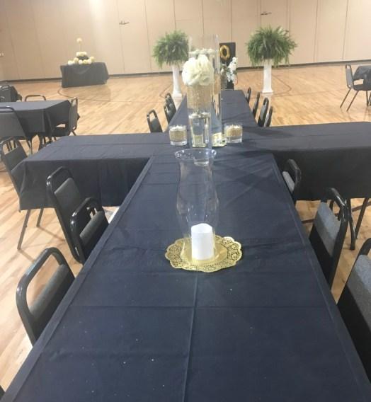 Family Banquet Table setup