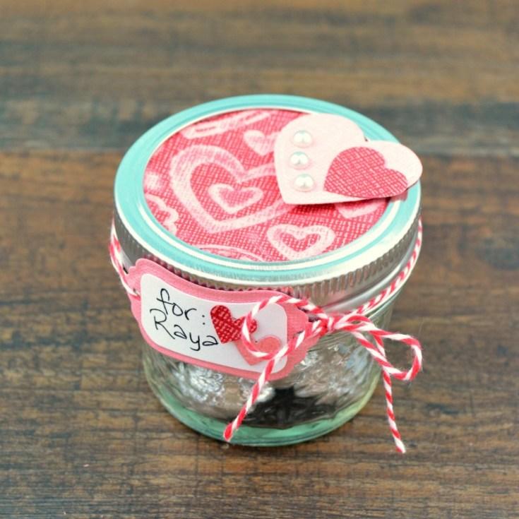 Valentine Gift in a Mason Jar
