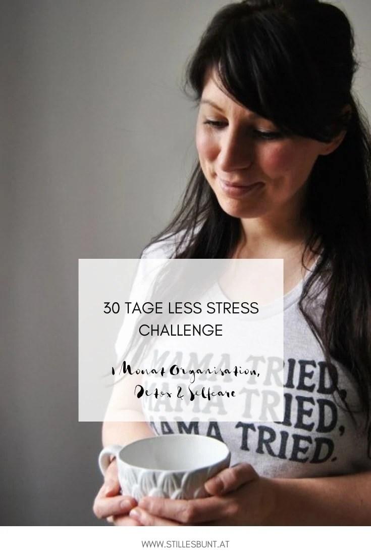 30 Tage less stress challenge Pinterest