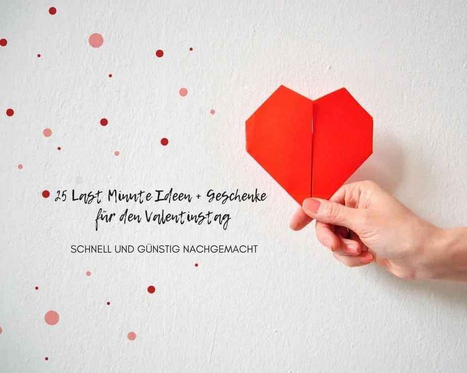 Beziehung 25 Last Minute Ideen Geschenke Fur Den Valentinstag