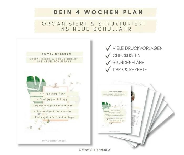 eBook Schulstart 4 Wochen Plan