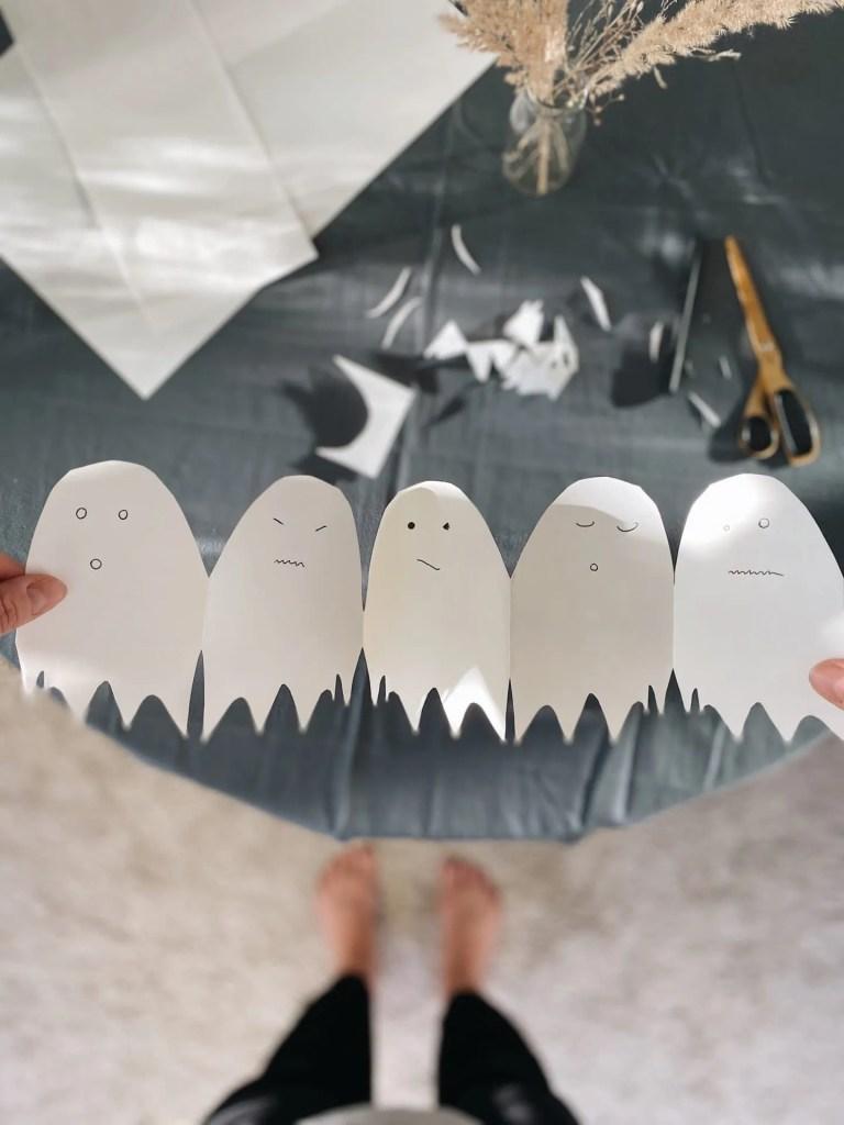 DIY-Geister-Girlande