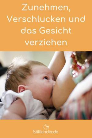 Baby trinkt an der Brust