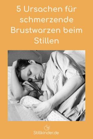 Stillende Mutter mit Neugeborenem