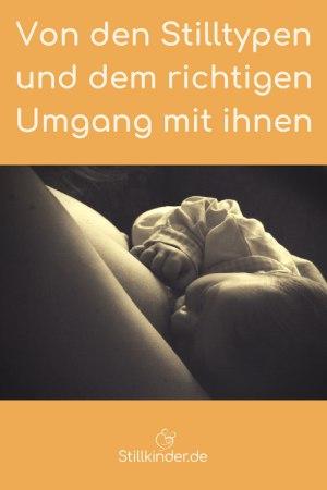 Neugeborenes an der Brust