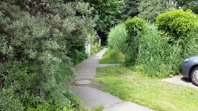 Weg zu den Häusern Braamwisch 4 - 10