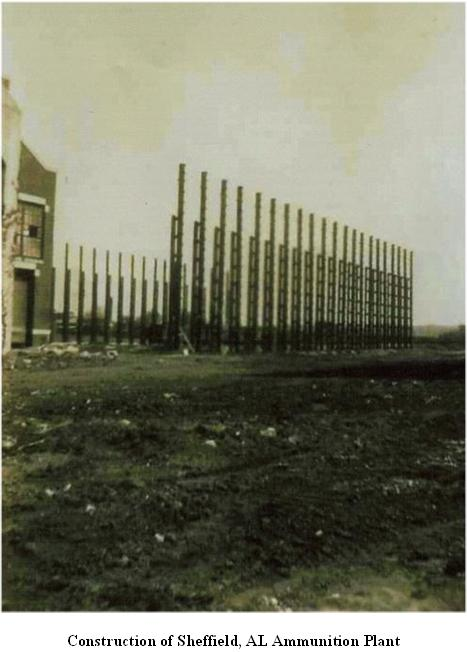 Photo of Sheffield Munitions Plant being built