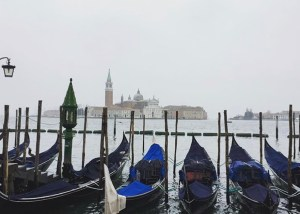 Gondolas along the lagoon