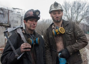 Gorlovka, Ukraine - February, 26, 2014: Miners mine named after Kalinin work shift