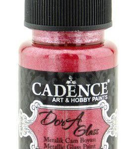Cadence Dora Glas & Porselein verf Metallic Rood