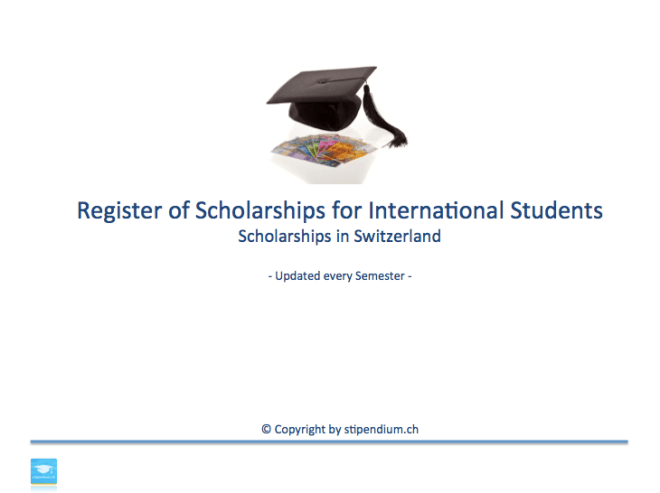 scholarships switzerland register