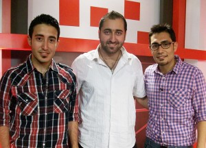 Foto: Nour Botros, Michel şi John Shabo