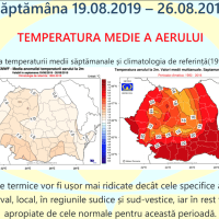 Prognoza meteo Romania 12 August - 9 Septembrie 2019 Romania #vara ANM