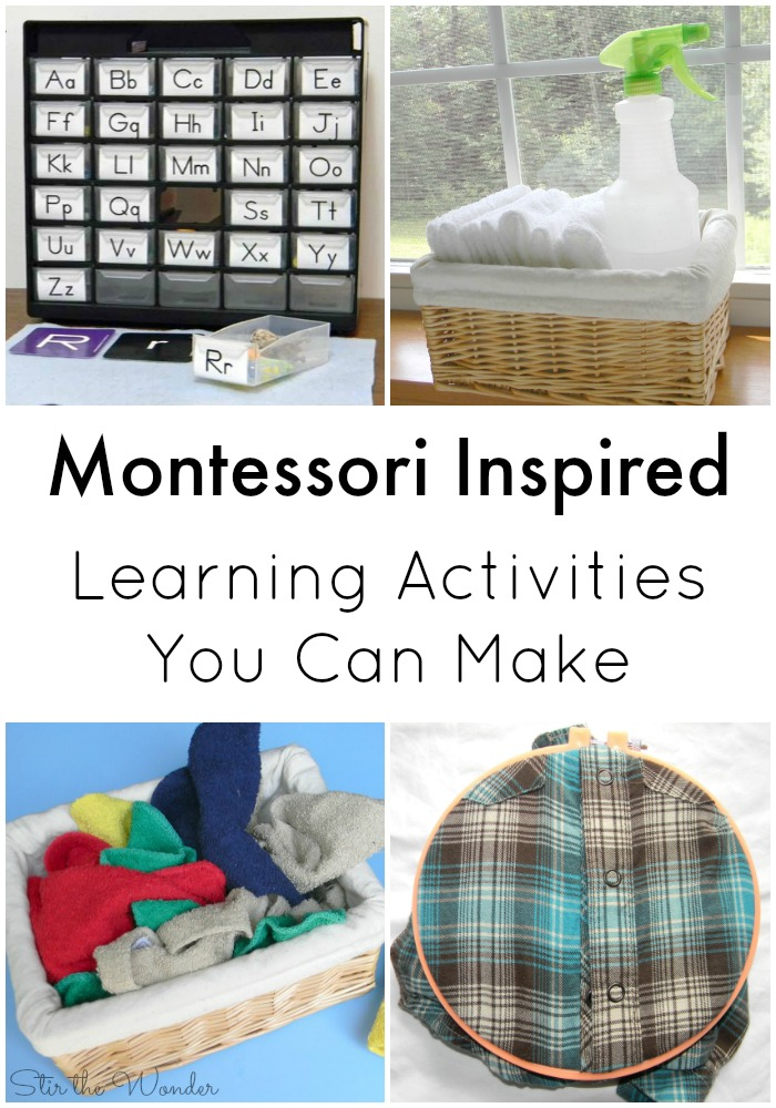 Montessori Inspired Learning Activities You Can Make