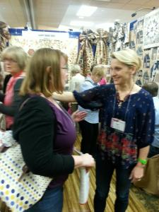 Edyta and I at her Laundry Basket Quilts Booth