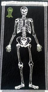 Skeleton Wall Hanging for Halloween for Ellen.